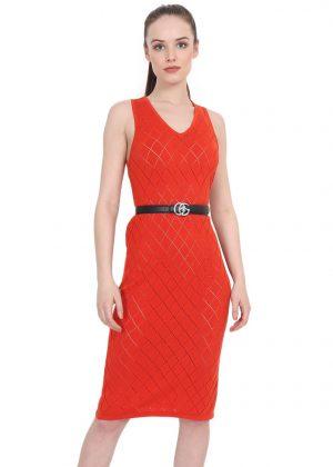 orange dress argyle